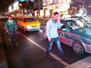 廣州巿區的單車行車道(於中山路)