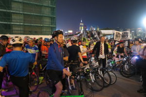 Daniel YM Chan - Dennis Kwok and the crowd at the start - 2276